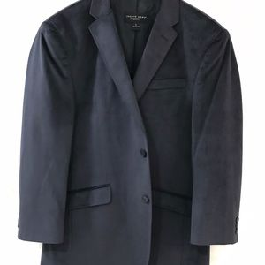 PRONTO UOMO {L} Sports Coat Jacket Velvet Blue